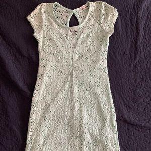 minty green mini lace dress
